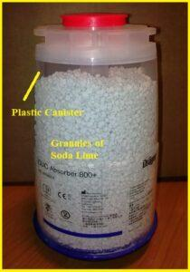 CO2 absorber, soda lime