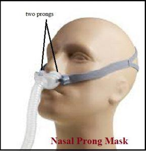 Nasal prongs mask, cpap mask