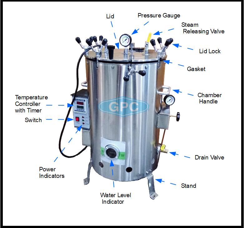 Vertical Autoclave Parts